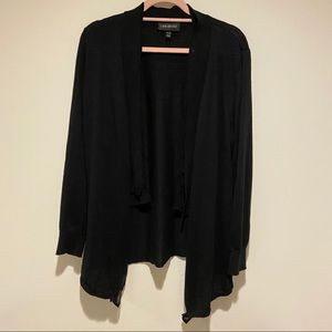 lane bryant black cardigan sweater size 14/16